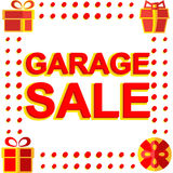 Big winter sale poster with GARAGE SALE text. Advertising vector banner Stock Photos