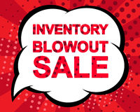 Big winter sale poster with INVENTORY BLOWOUT SALE text. Advertising vector banner Stock Photos
