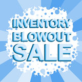 Big winter sale poster with INVENTORY BLOWOUT SALE text. Advertising vector banner Stock Photography