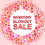 Big winter sale poster with INVENTORY BLOWOUT SALE text. Advertising vector banner Royalty Free Stock Image