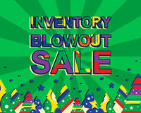 Big winter sale poster with INVENTORY BLOWOUT SALE text. Advertising vector banner Royalty Free Stock Photo