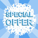 Big winter sale poster with SPECIAL OFFER SALE text. Advertising vector banner Royalty Free Stock Image
