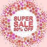 Big winter sale poster with SUPER SALE 80 PERCENT OFF text. Advertising vector banner. Big winter sale poster with SUPER SALE 80 PERCENT OFF text. Advertising Stock Images