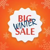 Big winter sale poster Royalty Free Stock Images