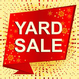Big winter sale poster with YARD SALE text. Advertising vector banner Royalty Free Stock Image