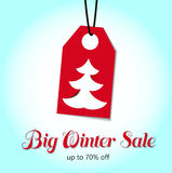 Big Winter Sale price tags. Vector Stock Images