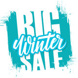 Big Winter Sale. Special offer banner with handwritten text design element  Stock Photo