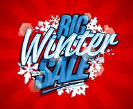 Big winter sale vector design. Concept Royalty Free Stock Image