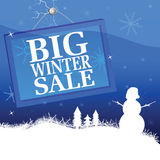 Big winter sale vector illustration Stock Photos