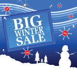 Big winter sale vector illustration with number Stock Photo