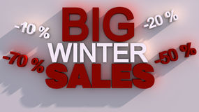 Big Winter Sales for your Christmas and Happy New  Stock Photography