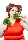 The big woman lifestyle beauty body care, diet and weight Stock Photo