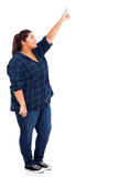 Big woman pointing Stock Photography