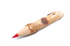 Big wood pencil. A big wood pencil on white background Royalty Free Stock Image