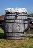 Big wooden barrel Royalty Free Stock Images
