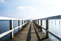 big wooden boat dock royalty free stock image