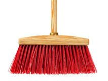 Big wooden broom Stock Photography