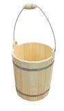 Big wooden bucket Stock Image