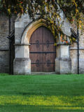 Big wooden door of church Stock Images