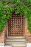Big Wooden Door of a House in Venice, Italy Stock Photo