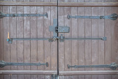 Big wooden gate texture Royalty Free Stock Photos