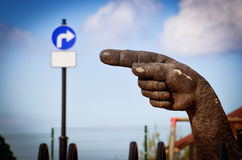 Big Wooden hand Royalty Free Stock Photos