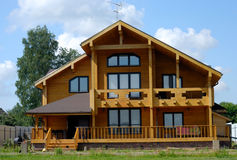 Big Wooden House Stock Photo