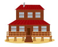 Big wooden house Stock Photos