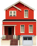 A big wooden house Royalty Free Stock Photography