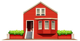 A big wooden house Stock Image