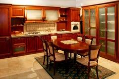 Big wooden kitchen Stock Photos