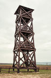 Big wooden lookout tower Stock Photography