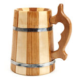 Big wooden mug as barrel Stock Image