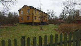 Big Wooden Orange House stock video footage