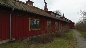Big Wooden Red House stock video footage