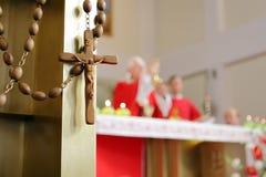 Big Wooden Rosary Stock Photos