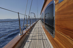 Big wooden sailboat Stock Photo