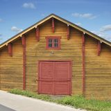 Big Wooden Shed Stock Photo