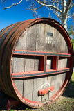 Big Wooden Wine Barrel Royalty Free Stock Image
