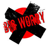 Big Worry rubber stamp Royalty Free Stock Photo