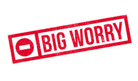 Big Worry rubber stamp Stock Photography