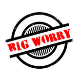 Big Worry rubber stamp Royalty Free Stock Photos