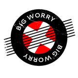 Big Worry rubber stamp Stock Images