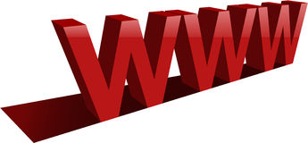 Big www letters Royalty Free Stock Photography