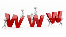 BIG WWW LETTERS Stock Photos