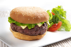 Big xl burger Royalty Free Stock Photos