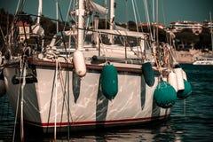 Big yacht in Nice, France, Mediterranean sea Stock Image