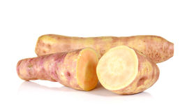 Big Yam cut pieces on white background. Royalty Free Stock Photography