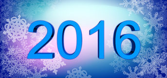 Big year date with snowflakes. Stock Images