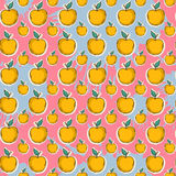 Big yellow apple pattern Stock Photos